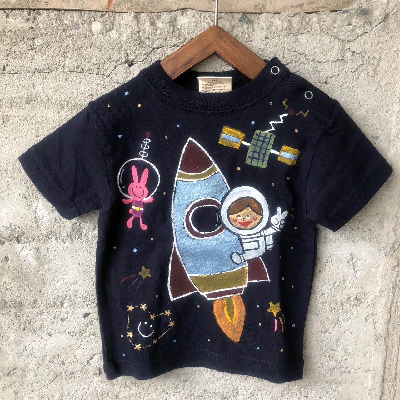 9a48ea58bf1ce セッションズ 名前入り 名入れTシャツ SESSIONS 手描きTシャツ 宇宙 ...